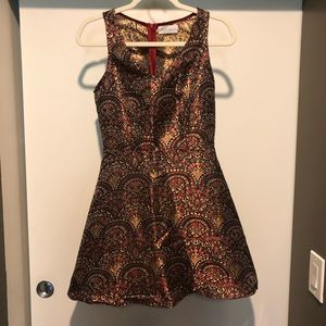 Whyte Eyelash Skaterskirt Mini Dress